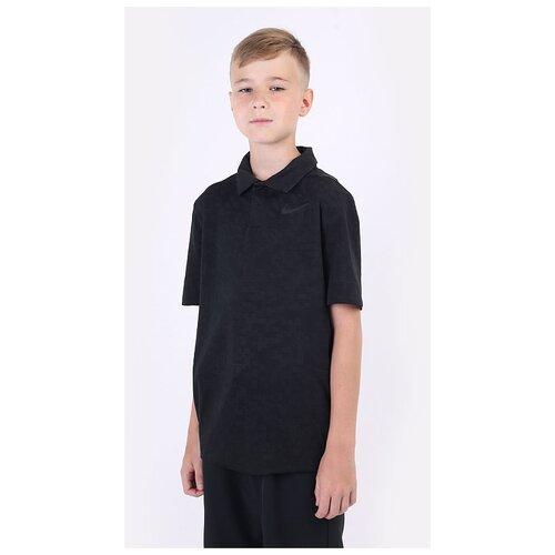 Фото - Поло NIKE Dri-FIT Tiger Woods Big Kids' Printed Golf размер M(137-147), черный nike толстовка для мальчиков nike sportswear размер 137 147
