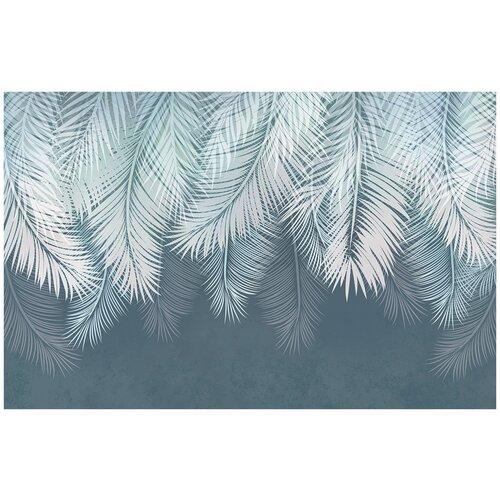 Фотообои Листья пальмы в темных тонах/ Красивые уютные обои на стену в интерьер комнаты/ 3Д расширяющие пространство над кроватью или над столом/ На кухню в спальню детскую зал гостиную прихожую/ размер 200х129см/ Флизелиновые