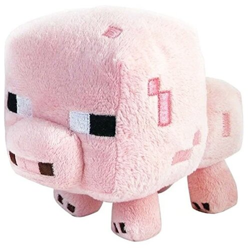Детская мягкая игрушка ВсеИгрушки / Плюшевый поросенок из игры Майнкрафт (Minecraft) для детей, мальчиков и девочек