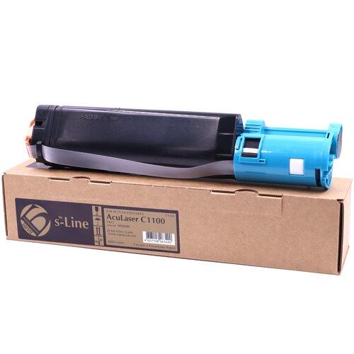 Фото - Тонер-картридж булат s-Line S050189 для Epson AcuLaser C1100, CX11 (Голубой, 4000 стр.) картридж лазерный cactus cs eps188 пурпурный 4000стр для epson aculaser c1100 c1100n cx11 cx11n cx11nf cx11nfc