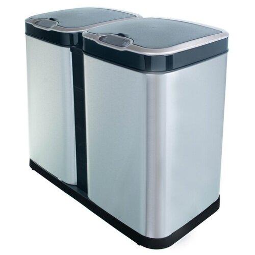 Ведро для раздельного сбора мусора, сенсорное, 2 отсека, Foodatlas JAH-8521, 26л (13+13) ведро для мусора держатель б полотенец foodatlas jah 543 6л белый