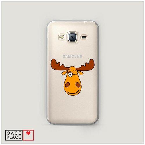 Чехол Пластиковый Samsung Galaxy J3 2016 Лось палата 6