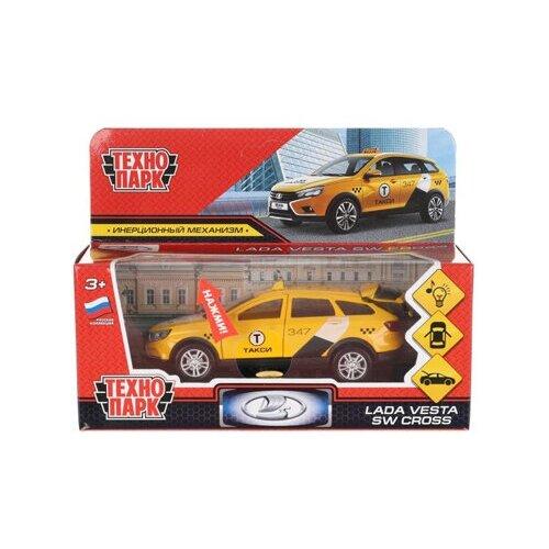 Купить 313413 Машина металл свет-звук LADA VESTA SW CROSS такси 12 см, двер, баг, ин, кор. Технопарк в к.2*36шт, ТЕХНОПАРК, Машинки и техника