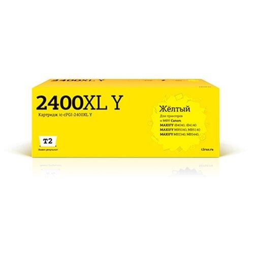 Фото - Картридж T2 IC-CPGI-2400XL Yellow для Canon Maxify iB4040/iB4140/MB5040/MB5140/MB5340/MB5440 картридж t2 ic cpgi 480pgbk xxl совместимый
