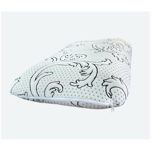 Ортопедическая подушка для сна 50х70 Асветида Solido жесткая, плотная подушка с эффектом памяти