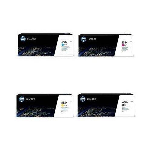 Фото - HP W2002A-W2003A-W2001A-W2000X Картриджи комплектом 658A, 658X полный набор CMYK:6K, BK:33K стр. [выгода 2%] для LaserJet M751dn M751 hp m0j98ae m0j94ae m0j90ae m0k02ae картриджи комплектом 991x полный набор повышенной емкости cmyk 16k bk 20k стр [выгода 2