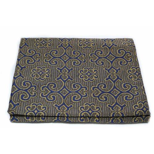 Покрывало гобеленовое Комфорт ЭН-Текс 150х200 см, цвет: золотистый, синий рисунок