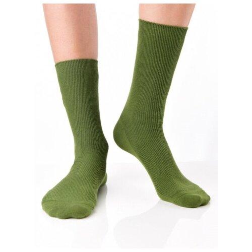 Носки рибана унисекс, цветные прикольные носки/ Модные носки с рисунком/ Высокие носки в рубчик с вышивкой Авокадо/ Носки из натурального хлопка, зеленый цвет