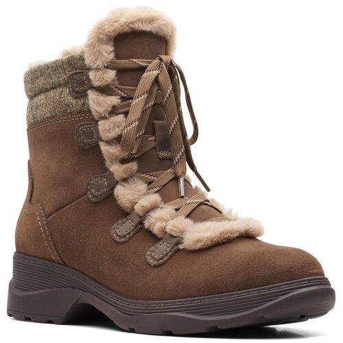 Ботинки Clarks , размер 38 , taupe suede туфли clarks clarks cl567ambuup3