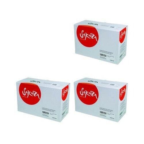 Sakura SA106R01034-3PK Картриджи комплектом 106R01034 черный 3 упаковки, совместимый [выгода 3%] Black 30К для Phaser 3420, 3425