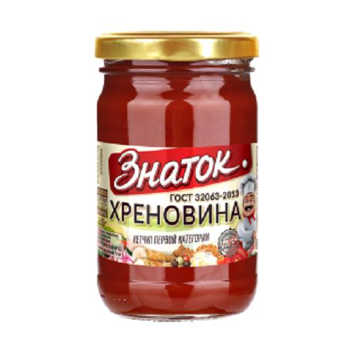 Соус Хреновина ГОСТ Знаток -0,360кг) стекло Калининград