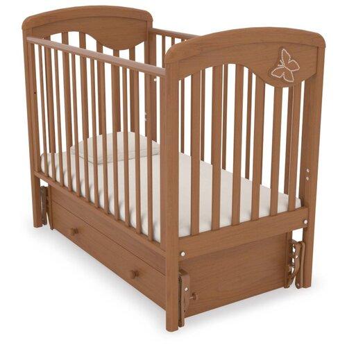 Кровать детская GANDYLYAN К-2002-24м Джулия (Бабочка) маятник универсальный (вишня) gandylyan кроватка gandylyan дашенька маятник универсальный орех