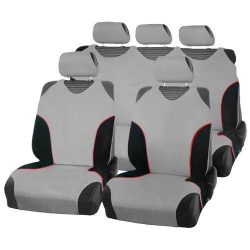 Чехлы-майки для автомобильных сидений AceStyle (серые с черными вставками)