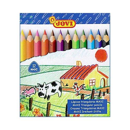 Трехгранные карандаши, JOVI (12 цветов)