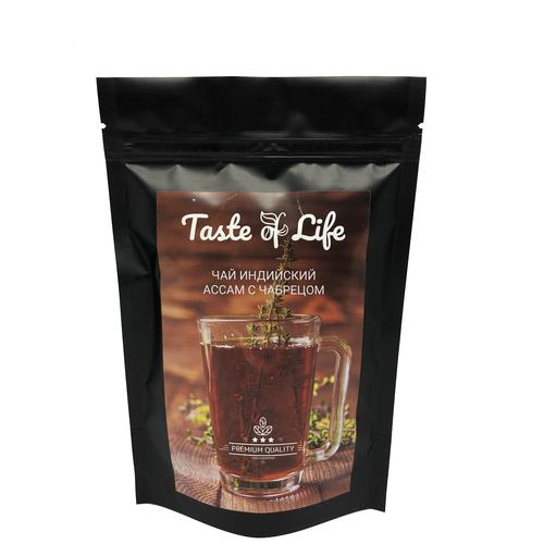 Ассам с чабрецом, типсовый, T.G.F.O.P., индийский черный чай. Taste of life. 200 гр. чай черный типсовый цейлонский высшей категории s f t g f o p шри ланка taste of life 100 гр