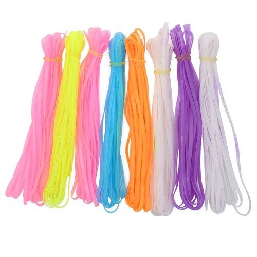 Шнуры для плетения цветные, 80 см, упак./8 шт., 'Астра' (неоновые)