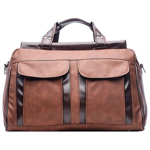 Дорожная сумка-саквояж, AST, коричневый, экокожа
