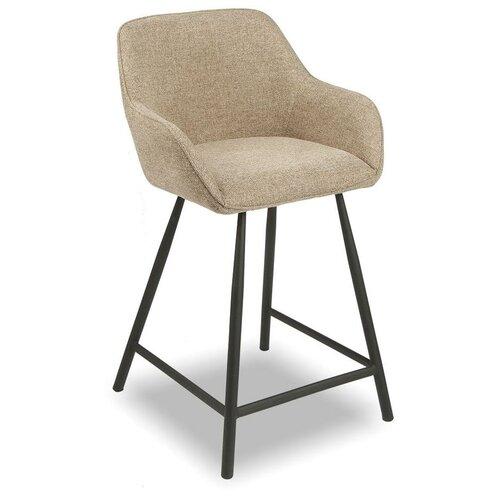Фото - Стул полубарный Edwin, светло-коричневый/черный стул полубарный peggy 60 матовый коричневый черный