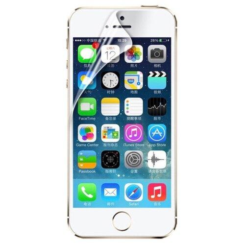 Защитная пленка MyPads для телефона iPhone 5 / 5S/ SE/ 5SE (Айфон 5/ 5С/ 5СЕ) глянцевая