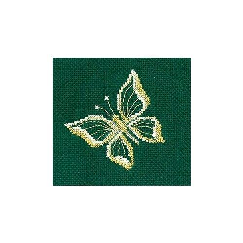 Набор для вышивания сделай своими руками З-28 Золотые украшения.Бабочка 12х12 см
