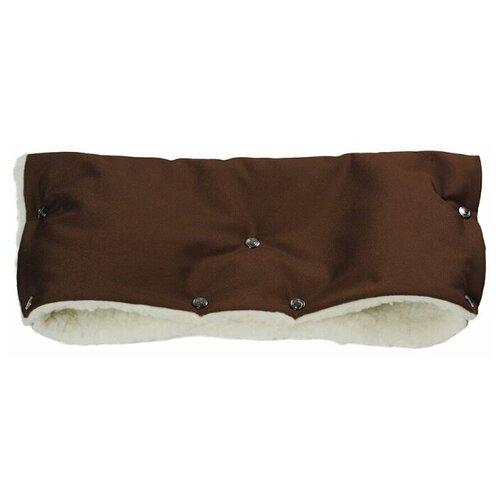 Муфта для рук на коляску меховая Комфорт - шоколад cherrymom муфта для рук cherrymom на коляску пингвины меховая синий
