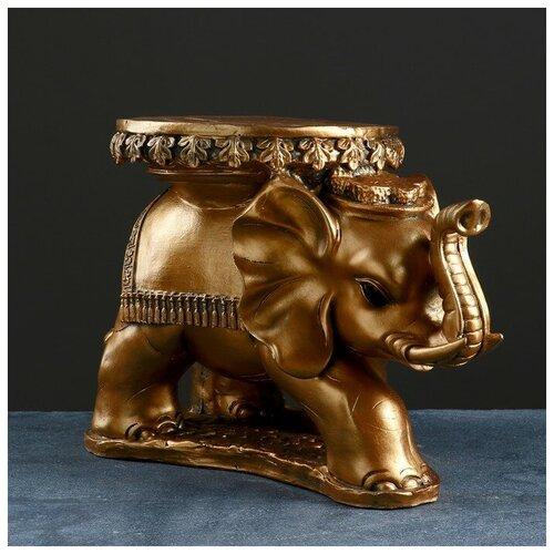 Хорошие сувениры Фигура - подставка Слон Звезда бронза, 45х28х33см фигура подставка слон с листком бронза золото 30х30х30см