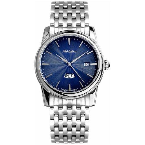 Фото - Швейцарские часы наручные мужские Adriatica A8194.5115Q мужские часы adriatica a1246 5217q