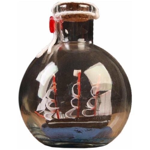 Корабль сувенирный, в бутылке, вертикальн. 11*8см 5285442 по цене 574