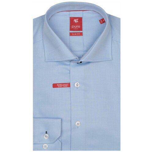 Рубашка pure размер L голубой