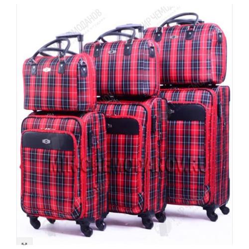 Фото - Малый чемодан Borgo-Antico Red Check +бьюти кейс, Артикул BA-6093-03 argento antico балетки