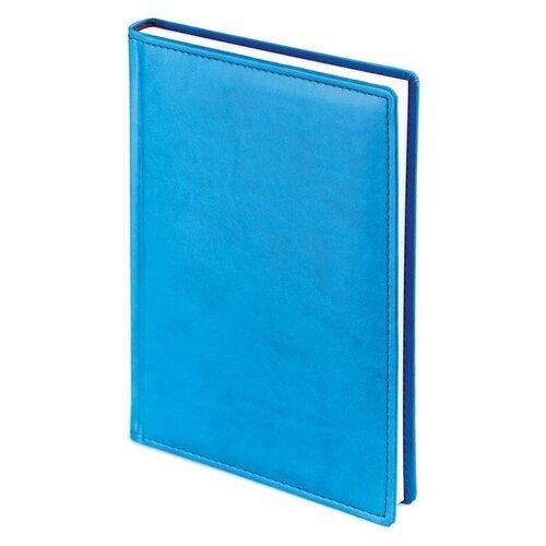 Купить Ежедневник недатированный Attache Velvet искусственная кожа A5 136 листов синий флуор (145x205 мм) 1 шт., Ежедневники