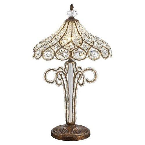 WERTMARK Настольная лампа PRINCESS 1x40Вт E14 испанская бронза 39,5x39,5x64,3см