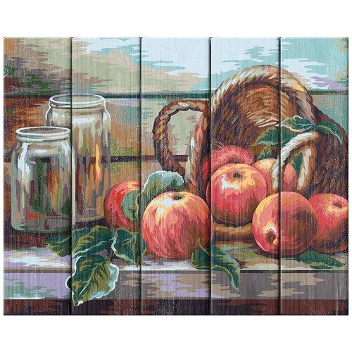 Купить Картина по номерам Фрея 40*50 см, Натюрморт с яблоками, Жанна Когай , по дереву (PKW-1 56), ФРЕЯ, Картины по номерам и контурам
