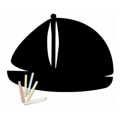 Магнитная меловая доска Doski4you Кораблик для рисования на холодильник + мел / детская грифельная черная