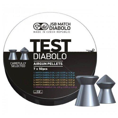 Пули JSB Match TEST 4,49-4,51 мм, 0,52-0,535 г. 7x50 шт (350 штук)
