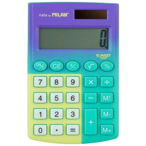 Калькулятор карманный Milan Sunset 8-разрядный зеленый/желтый 1 шт.