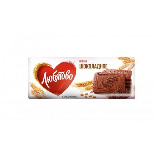 Фото - Печенье Любятово сахарное Шоколадное, 304г 3 шт. кухмастер печенье сахарное шоколадное 170г кухмастер