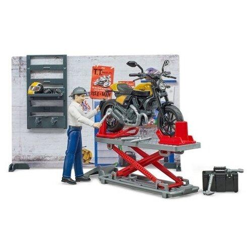 Купить BRUDER Ремонтный набор Bruder с жёлтым Ducati, Машинки и техника