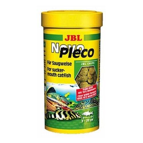 Фото - Корм для рыб JBL NovoPleco Водорослевые чипсы с примесью целлюлозы для кольчужных сомов 100мл (55г) сухой корм для рыб jbl novopleco 53 г
