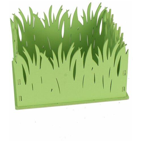 Подарочная упаковка с травой канышевы ПУ181-02-1313 салатовый 17,5*15*12 МДФ