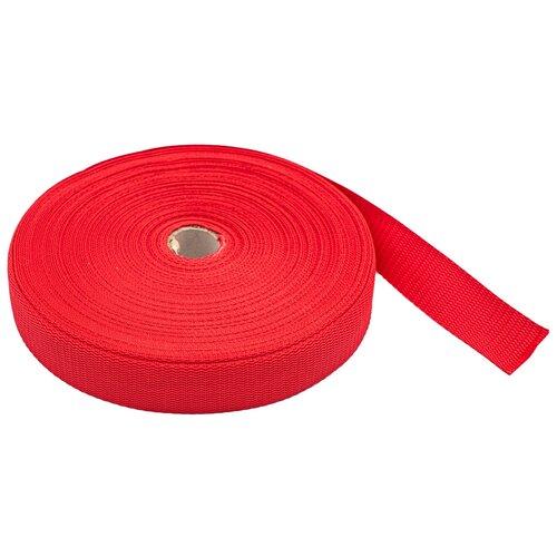 Купить С3075Г17 Стропа-30 рис.8358 30мм*25м, 15, 8 г/м (10 красный) 25 м, Красная лента, Технические ленты и тесьма