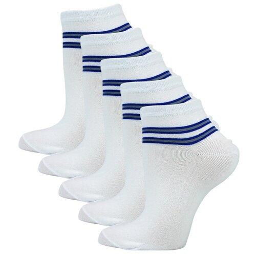 Носки Годовой запас носков укороченные уж5, 5 пар, размер 23 (36-38), белый