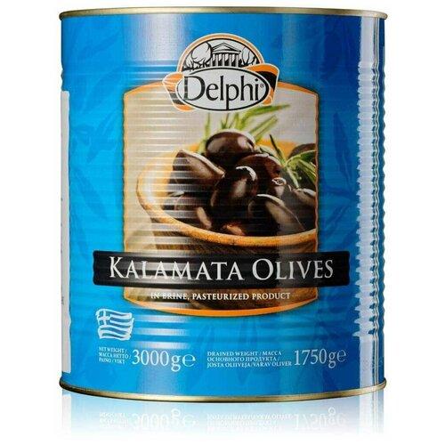 Маслины Каламата с/к в рассоле Delphi Super Colossal 111-120 3000 г. delphi маслины с косточкой в рассоле монастырские 480 г