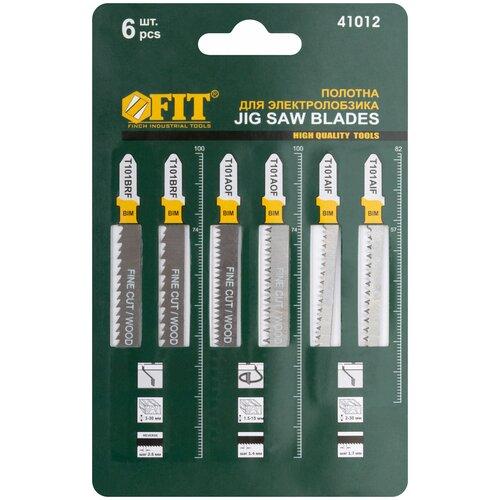 Набор пилок для лобзика FIT T101BRFx2; T101AOF x2; T101AIF x2 41012 6 шт. набор пилок для лобзика рос