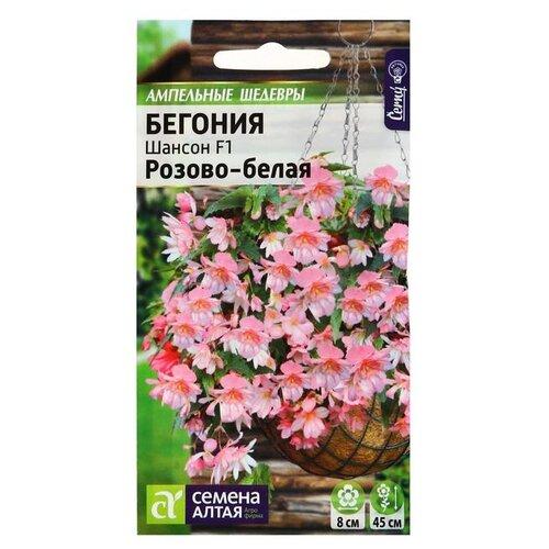 Семена Семена Алтая Ампельный шедевры Бегония Шансон Розово-белая F1 5 шт