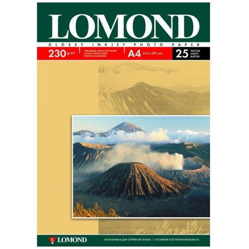 Фото - Фотобумага Lomond A4 230g/m2 глянцевая 25 листов 102049 фотобумага lomond a3 230g m2 глянцевая односторонняя 50 лист