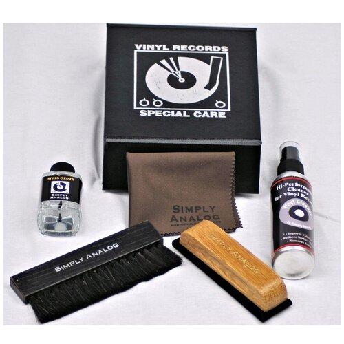 Фото - Набор для ухода за пластинками Simply Analog (SAVC003) Vinyl Record Cleaning Box Set Black набор для чистки baseus portable cleaning set