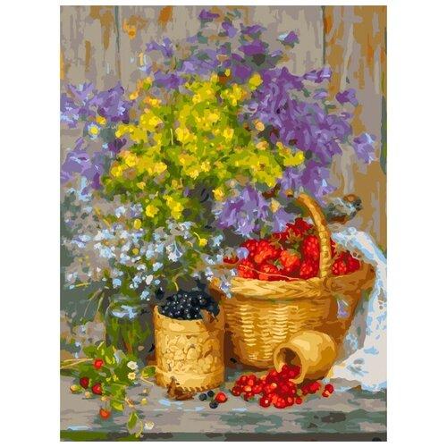 Картина по номерам ТМ Белоснежка 30х40 см Летние ягоды (443-AS) белоснежка картина по номерам листок 30х40 см 046 as