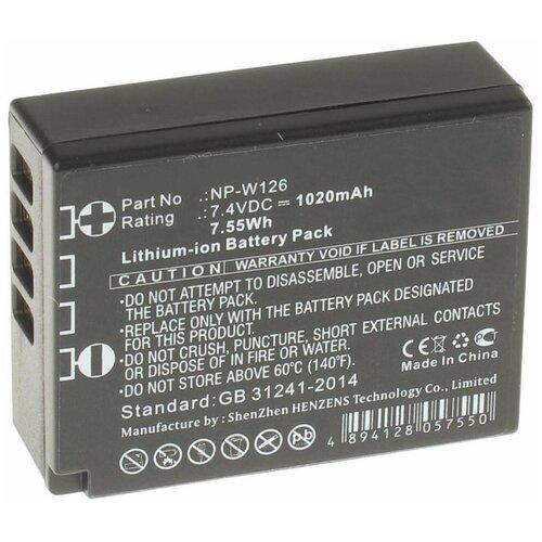 Фото - Аккумулятор iBatt iB-U1-F152 1020mAh для FujiFilm X-T1, X-Pro1, FinePix HS30EXR, FinePix HS33EXR, аккумуляторная батарея для фото видеокамер fujifilm finepix hs30 hs33exr x pro 1 np w126 7 4v 1020mah