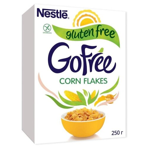 Фото - Завтрак NESTL? GOFREE хлопья кукурузные, с витаминами, 250г хлопья кукурузные nestle gold snow flakes 300 г